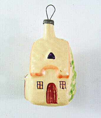 $ CDN6.30 • Buy WINTER HOUSE Vintage Russian Glass Christmas Tree Ornament Decoration 60s