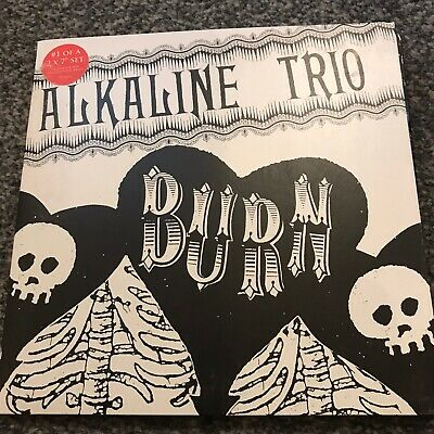 ALKALINE TRIO - BURN 2 X 7  RED WAX ( BLINK 182,LAWRENCE ARMS, GREEN DAY, NOFX ) • 8.99£