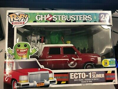 Ghostbusters (2016) - Ecto 1 Red SDCC 2016 Exclusive Pop! Ride-Brand New FUNKO • 27.88£