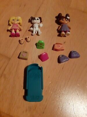 2 Clarks Daisy Yotoy Dolls And Dog Collection Interchangeable Heads • 1.50£