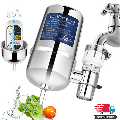 Tap Water Purifier Kitchen Faucet Ceramic Filtration Cleaner Home Water Filter • 4.99£