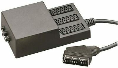 3 Way Scart Splitter With 3 Switches   • 6£
