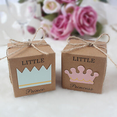 £2.99 • Buy 10x Baby Shower Favours Sweet Candy Box Baptism Birthday Party Gift Christening