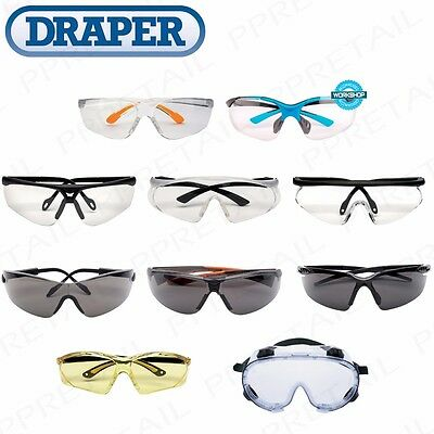 £11.99 • Buy QUALITY DRAPER SAFETY GLASSES/SPECTACLES/SPECS/GOGGLES Anti-Mist/Scratch Tint UV