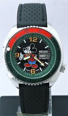 $ CDN41.97 • Buy Seiko Diver's Automatic 6309 Mickey Mouse Dial 17 Jewels D&D Men's Wrist Watch