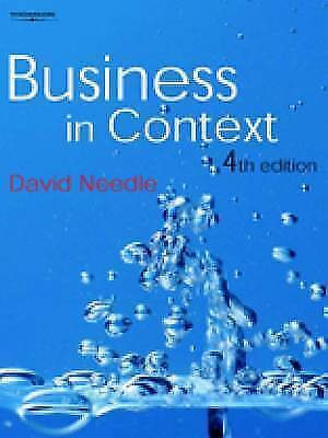 Business In Context By David Needle (Paperback, 2004) • 2.75£