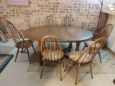 AU2500 • Buy Ercol Extension Table And 6 Chairs England
