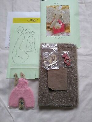 Mohair Sewing Kit For Elephant  5 Inch Nellie, Bear. Ready Made Dungarees. • 20£