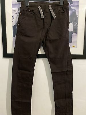 New Boys Next Skinny Twist Chino Age 10 Chocolate Bnwt • 5£