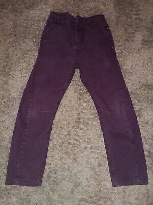 Boys Twisted Seam Chino Style Casual Purple Trousers Age 5 NEXT • 3£