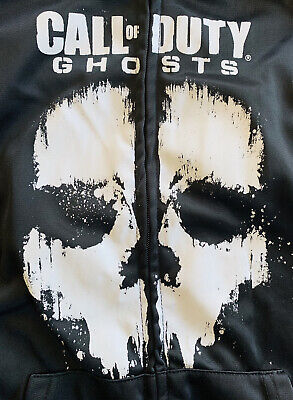 £17.68 • Buy Call Of Duty Ghosts Youth 2XL Long Sleeve Black Gray Zip Up Hoodie
