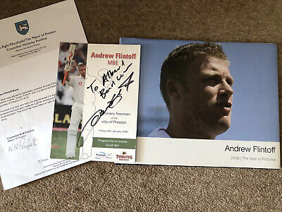 Andrew Freddie Flintoff SIGNED ITEMS - VERY RARE - See Info - Cricket Collector • 46£
