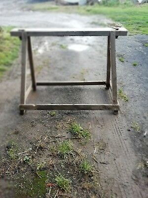 Vintage Farm Machinery Mowing Machine Sharpening Stand • 26£