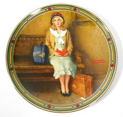 $ CDN12.65 • Buy Edwin M Knowles China Co Norman Rockwell Collector Plate  A Young Girls Dream