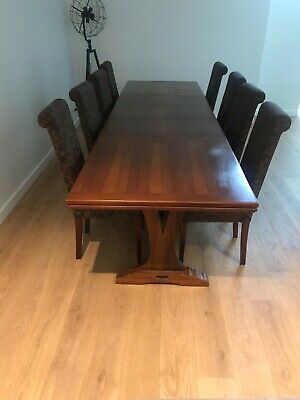 AU200 • Buy Dining Table And 8 Upholstered Chairs