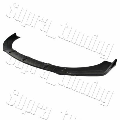 $39.89 • Buy 3PCS Universal Unpainted Black Front Bumper Protector Body Splitter Spoiler Lip