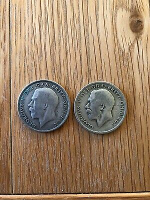 2 Half Crown In Circulated Condition - 1920 & 1921 • 5.99£