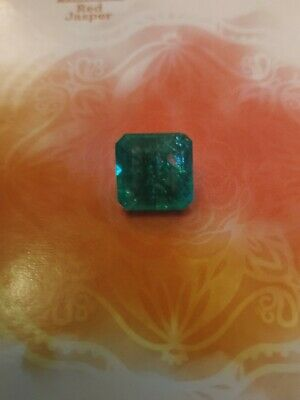 7.50 Natural Colombian Green Emerald. Square Cut. New. No Tags • 42.90£