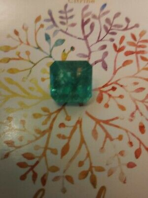 9.50ct Square Cut. Colombian Emerald. New No Tags • 42£