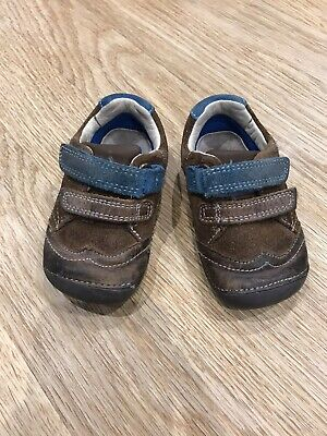 Clarks Cruiser/ First Soft Baby Shoes Brown Suede UK 3.5G/ EU 19 Used • 0.99£