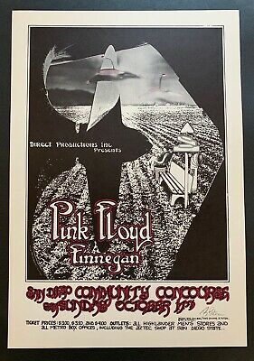 $140 • Buy Pink Floyd Original Concert Poster At The San Diego Community Concourse Signed
