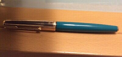 VINTAGE PARKER 61 FOUNTAIN PEN IN TURQUOISE (1/10 12ct Rolled Gold Cap ) • 7.50£