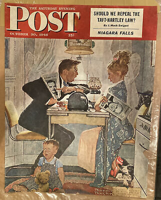 $ CDN10.16 • Buy Saturday Evening Post 1948 Cover. Norman Rockwell  COVER ONLY NO MAG