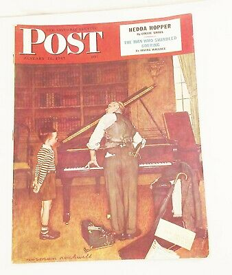 $ CDN33.05 • Buy Vtg Saturday Evening Post Magazine Jan, 11 1947 Norman Rockwell Cover Art