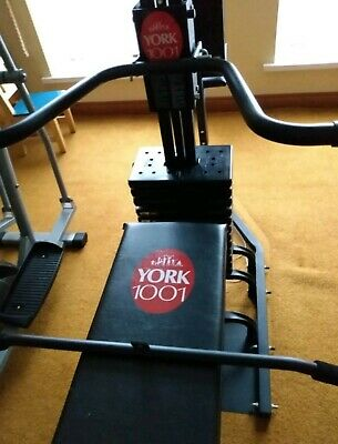 £159.99 • Buy York Weights Plates For Multigym Bench 5 Plates Fits York Pro Power Bench Machin