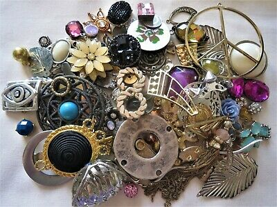 £5 • Buy 400g MIXED JEWELLERY MAKING FINDINGS, CONNECTORS, CHARMS, MIXED METAL