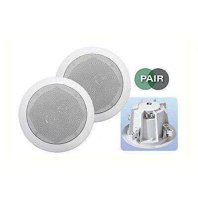 E-audio 2-Way Round Ceiling Speakers With Twin Offset Tweeters • 42.99£