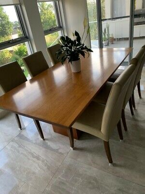 AU790 • Buy Dining Table With 6 Leather Chairs