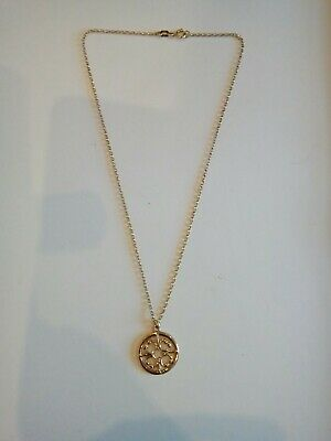 VINTAGE SCOTTISH 9CT GOLD OLA GORIE ST MAGNUS CROSS NECKLACE. Minibel 16   Chain • 250£