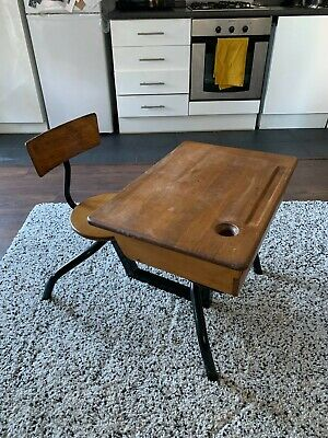 Charming Vintage School Desk And Chair • 35£