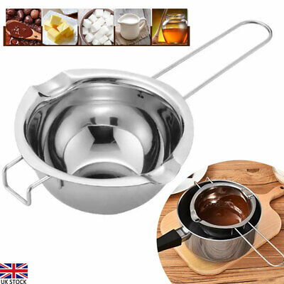 Stainless Steel Wax Melting Pot Double Boiler For DIY Wedding Scented Candle UK • 7.99£