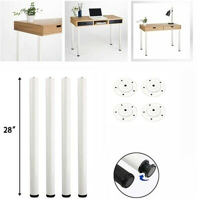 4X 72cm Rustic Pipe Metal Coffee Table Bar Legs Office Desk Nightstand DIY Feets • 18.59£