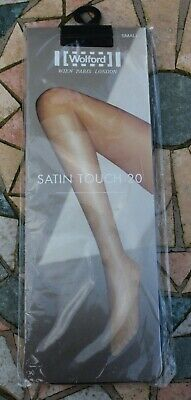 £10.99 • Buy New - WOLFORD Satin Touch 20 Knee Highs - Black - Size Small