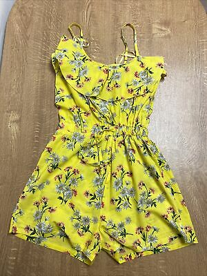 Yellow Summer Playsuit Womens Size 10 • 1.50£