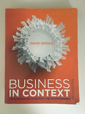 Business In Context 6th Edition By David Needle  • 35£