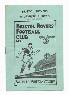 1950/51 Division 3 South - BRISTOL ROVERS V. SOUTHEND UNITED • 4.99£