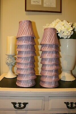 £19.99 • Buy 1 X LAURA ASHLEY Faux Silk Mauve,Lilac Pleated 5  Candle Shade,Lightshade,Lamp