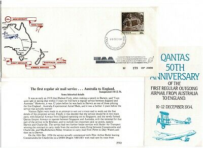 $3.77 • Buy Qantas 50th Anniversary Of Australia To England - Cover And Inserts 179/2000