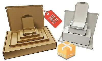 £17.63 • Buy White & Brown Shipping Cardboard Boxes Postal Mailing Gift Packet Small Parcel