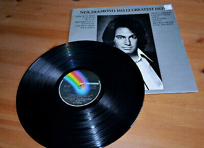 Neil Diamond ‎– His 12 Greatest Hits Vinyl 12  LP Album 1974 • 4.50£