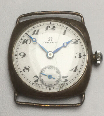 Vintage Gents Omega 1920's - 1930's Silver Hallmarked Watch Serial No 7111110 • 13.48£