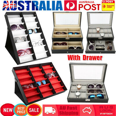 AU23.89 • Buy Luxury Sunglasses Glasses Eyeglasses Display Storage Case Box Organizer Holder