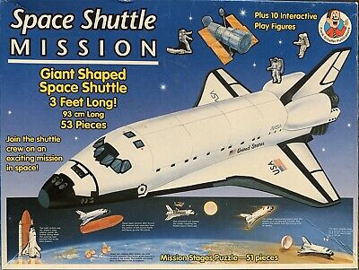 Space Shuttle Mission Giant Shaped 3 Separate Puzzles Spaceship Rocket READ DESR • 19.18£