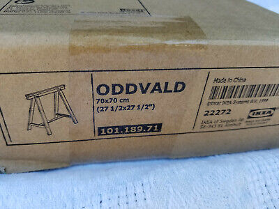 IKEA Oddvald Trestle Leg BLACK Solid Wood For Desk Or Table -  Office Or Home • 39.54£