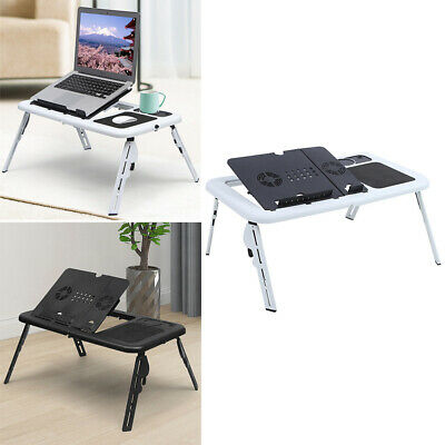 Cooling Stand Adjustable Folding Laptop Table Bed Lap Tray Foldable Portable NEW • 14.95£