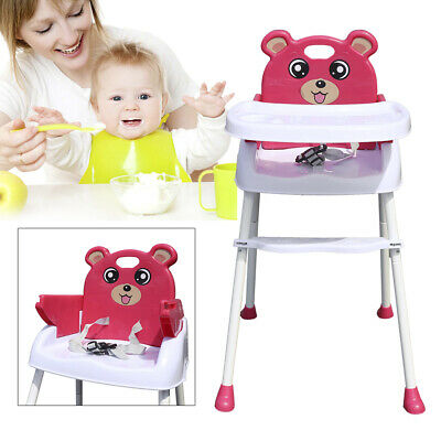 £25 • Buy 4in1 Foldable Baby High Chair Infant Adjustable Feeding Seat With Tray+Belt UK